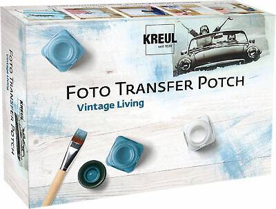 Neu C. KREUL Foto Transfer Potch Set Vintage Living 5049187