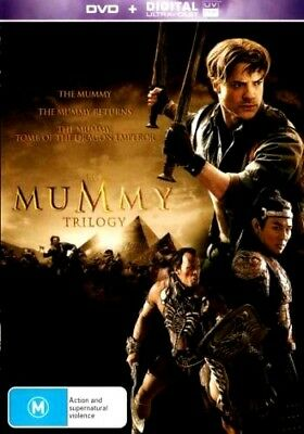 THE MUMMY 1 2 3 TRILOGY New 3 Dvd + UV BRENDAN FRASER ***