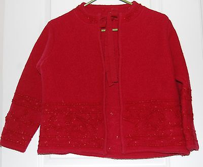 Felted Wool Childs Jacket Red Size Large