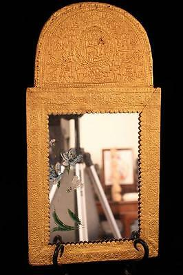 Antique Hand Crafted Persian Gold Mirror, 19th c.