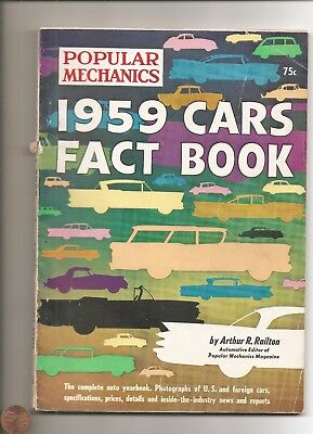 POPULAR MECHANICS 1959 CARS FACT BOOK 160 pgs