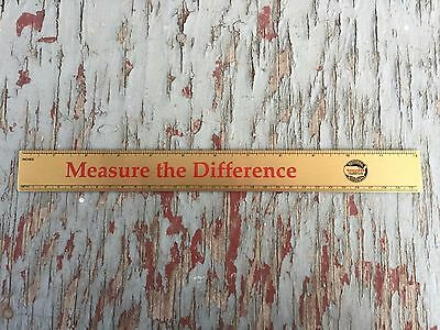 Firestone Brass Ruler measure the difference
