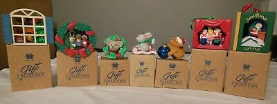 Vintage Avon Gift Collection Christmas Ornaments Set of 7 New in Boxes