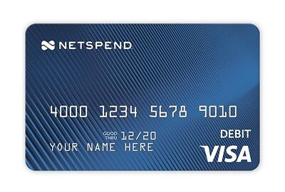 Netspend Personal Prepaid Debit Card With $20 Bonus Offer With $40 Deposit.