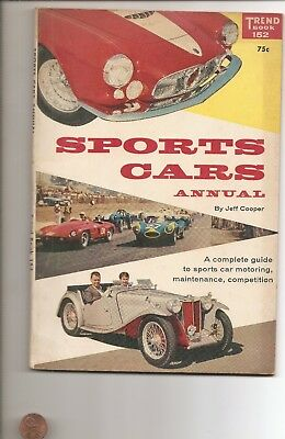 1957 Trend Books 152 Sports Cars Annual  128 Pages