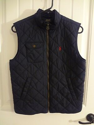 Polo Ralph Lauren Youth Quilted Vest, Size Youth Large (14-16), French Navy