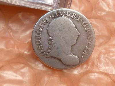1763 George III  Silver Colonial Threepence Coin #2