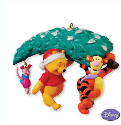 2010 Hallmark A TREE FOR THREE Ornament Disney Winnie POOH TIGGER PIGLET