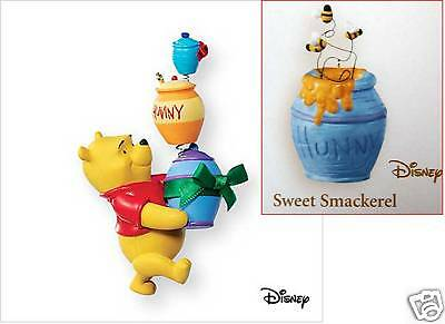 2007 Hallmark SWEET CHRISTMAS SMACKERELS + 2006 SWEET SMACKERELS Pooh Honey Pot