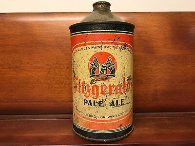 Fitzgerald Quart Cone Top Beer Can
