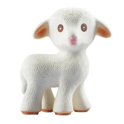 Baby Teething Toy by Caaocho Mia the Lamb Natural Rubber New Infant Teether Gift