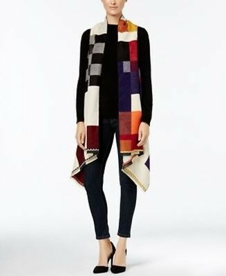 Rampage Luxweave Color Block Convertible Vest - Scarf One Size Multi Color #5822