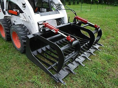 "Bobcat Skid Steer Attachment - 72"" Rock Bucket Tooth Grapple - Ship $149"