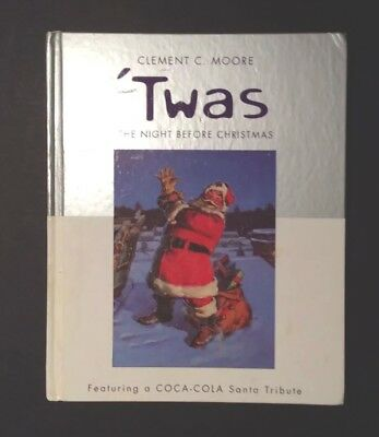 Hallmark's 2001 Twas The Night Before Christmas Book W/CocaCola Tribute To Santa