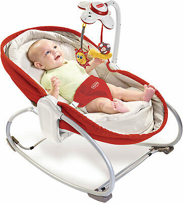 Neu Tiny Love 3-in-1 Babywippe Rocker Napper, rot mit Musikmobile 7156253