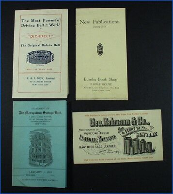 4 Assorted Vintage Advertising Flyers, Cards, Paper, Etc