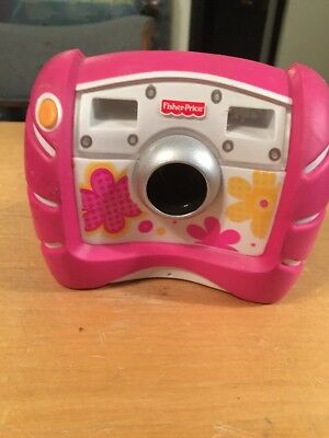 Fisher Price Kid Tough Digital Camera Pink Flowers Works!