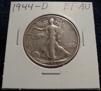 #6 Extremely Fine To About Uncirculated Walking Liberty Silver Half Dollar 1944D