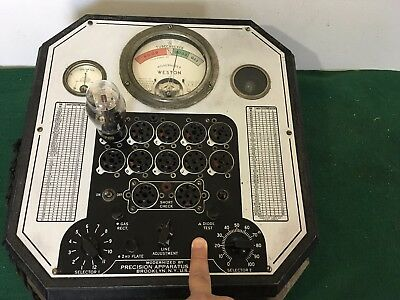 VINTAGE WESTON TUBE CHECKER 676 TESTER FOR 2A3, 45 , 47 , 80 , 485  ~  Working