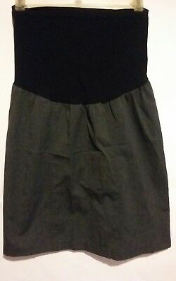 Motherhood Maternity Women's Career Skirt Knee Length Black/White Size Large