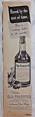 1946 OLD FORESTER, Kentucky Straight Whisky, Magazine ad. #288