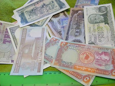 Lot of 45 uncirculated World Banknotes,being 15  diff. X 3 lots...Dealer Lot.