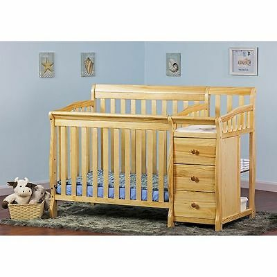 Baby Crib Conversion Kit Furniture 4 in 1 w/ Changing Table Convertible NATURAL