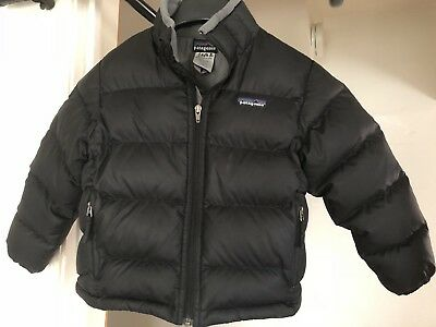 Patagonia Boy Girl Kids Size XS (4-5) Black Down Sweater Jacket
