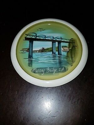 Antique Studio Anna Hand Painted Souvenir Dish murray bridge SA signed