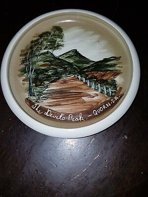 Antique Studio Anna Hand Painted Souvenir Dish quorn SA signed