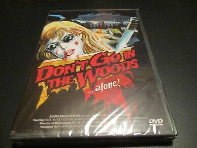 """DVD NEUF """"DON'T GO IN THE WOODS ALONE"""" film d'horreur de James BRYAN"""