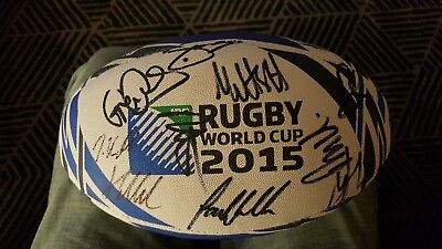 scotland rugby signed ball 2015 world cup squad