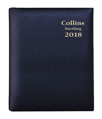 Diary 2018 Debden Collins Sterling Black A7 Week to View +PENCIL 333P.V99 10x7cm