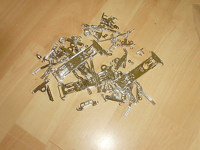 Mixed lot of 100  1/43 scale chromed plastic model car parts