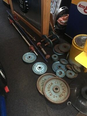 Free Weights And Bars.