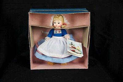 Vintage Madame Alexander Blonde Netherlands Dutch Doll #591, New in Original Box
