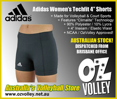 "Adidas Women's Techfit 4"" Volleyball Short with Climalite Tech (New) - OzVolley"