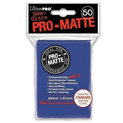 ULTRA PRO Deck Protector Sleeves Pro Matte Non-Glare Blue Standard 50ct 66 x 91
