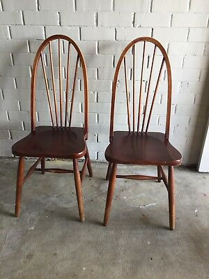 Vintage Retro Ercol Kitchen Chairs Dining Chairs
