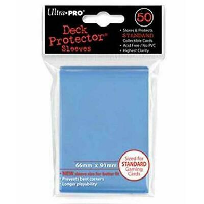 ULTRA PRO Deck Protector Sleeves Standard 50ct 66 x 91 Light Blue MTG Pokemon
