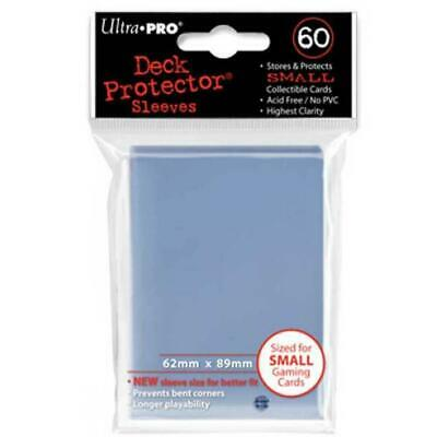 ULTRA PRO Deck Protector Sleeves Small 60ct 62 x 89 Clear Yugioh