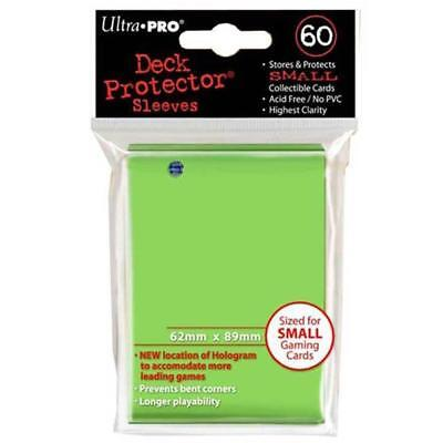 ULTRA PRO Deck Protector Sleeves Small 60ct 62 x 89 Lime Green Yugioh