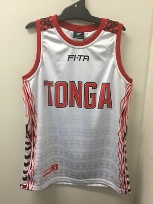 Tonga Mate Ma'a Rugby League 2017 RLWC Players Basketball Singlet Sizes S-7XL!