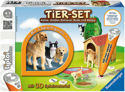 Neu Ravensburger tiptoi® Spielfiguren Tier-Set Golden Retriever 6551016