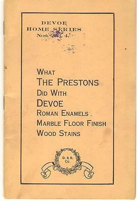 Devoe Home Series Nos. 2,3,4 What the Prestons Did Devoe & Raynolds 32p. Booklet