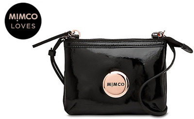 Mimco Secret Couch Hip Bag Black Rose Gold Bnwt Dustbag Rrp$199 - Express Post