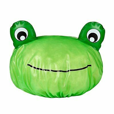 NW Novelty Shower Cap Hat Green Crazy Frog Shower Cap Elasticated Opening 1 Size