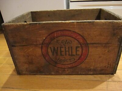 Wehle Beer crate Wehle brewing co. West Haven Conn.