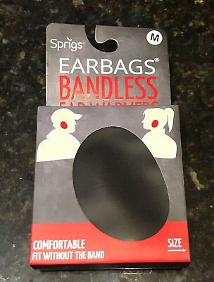 Sprigs Earbags Bandless Ear Warmers / Earmuffs with Thinsulate Black Medium L@@K