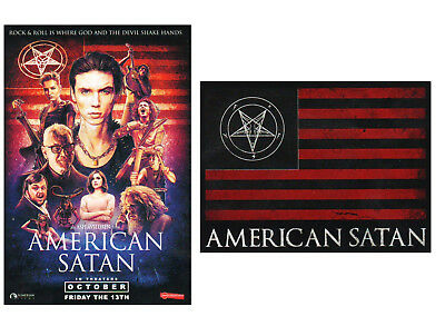 AMERICAN SATAN Film 2017 Ltd Ed RARE Stickers Lot +FREE Rock Metal Stickers! BVB